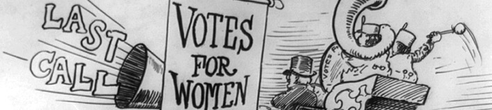 Votes for women bandwagon. Clifford Berryman, 1919