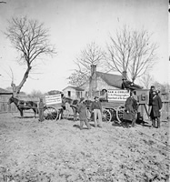 Wagons and camera of Sam Cooley
