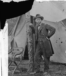 Edgar Guy Fowx, photographer. Gen. U.S. Grant at his Cold Harbor, Va., headquarters, June 1864