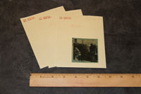 image of sheet film and archival envelopes