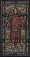 Design drawing for stained glass window called Arts Education, Froelich Memorial Window