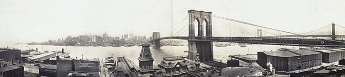 Brooklyn Bridge. Irving Underhill, 1913.