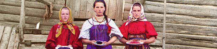 Peasant girls. Sergei Mikhailovich Prokudin-Gorskii, ca. 1909.