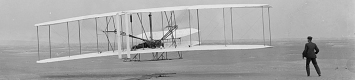 First flight. Dec. 17, 1903.