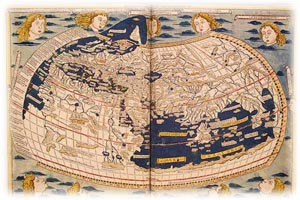 World Map, in Germanus, 1482.