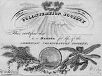 [American Colonization Society life membership certificate]