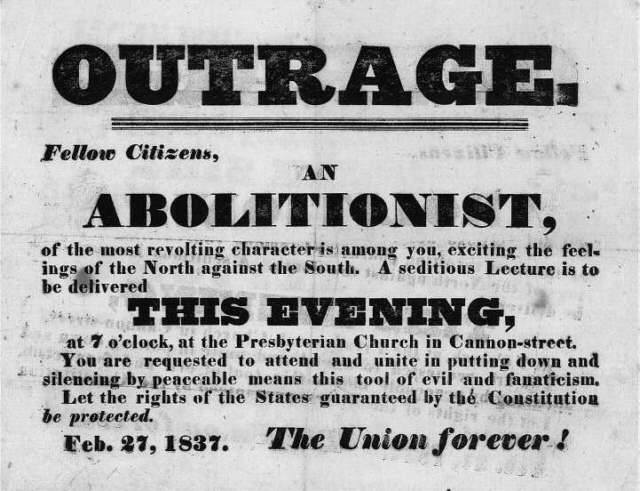 abolitionist movement The abolitionist movement, however, is in disarray and increasing violence raises doubts about the efficacy of its pacifist tactics written by anonymous.