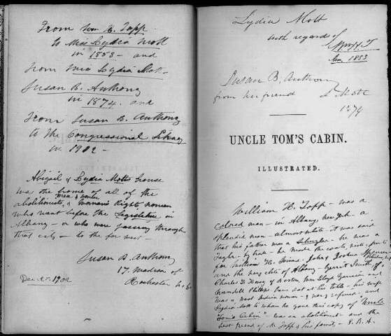 influence of prominent abolitionists the african american mosaic uncle tom s cabin half title page harriet beecher stowe boston john p jewett company 1853 susan b anthony collection rare book and special