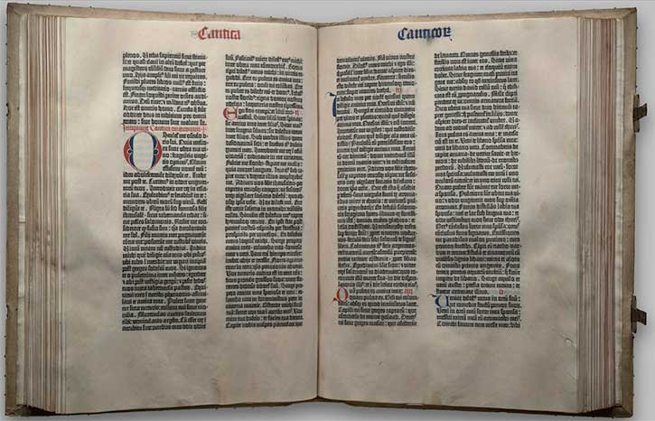 The Gutenberg Bible - Library of Congress Bible Collection ...