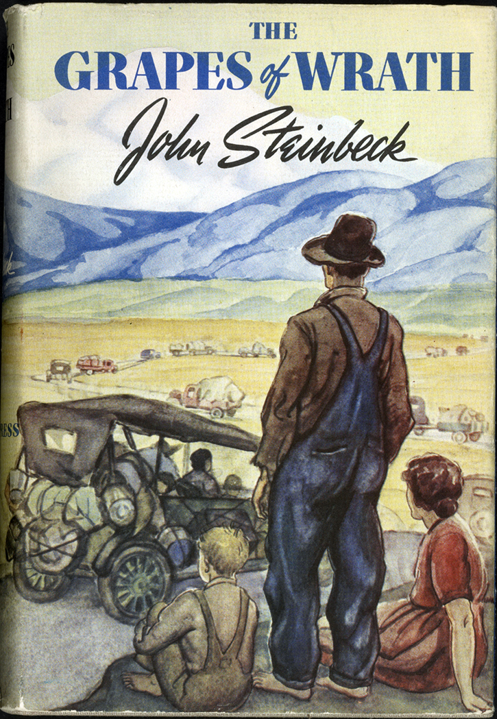 an analysis of the grapes of wrath a novel by john steinbeck John steinbeck's novel, the grapes of wrath, tells the story of the joad family's migration from dust bowl, oklahoma to california it was the bestselling book of 1939, won the national book award and the pulitzer prize.