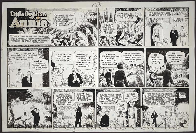 Comic strip orphan don