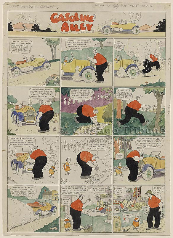 Comic strip gasoline alley elly