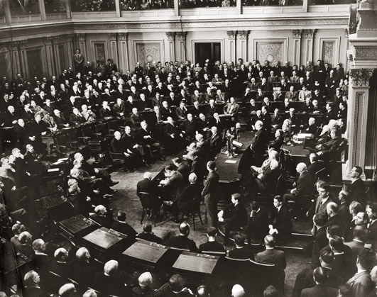 Image: Winston Churchill addressing U.S. Congress, December 26, 1941