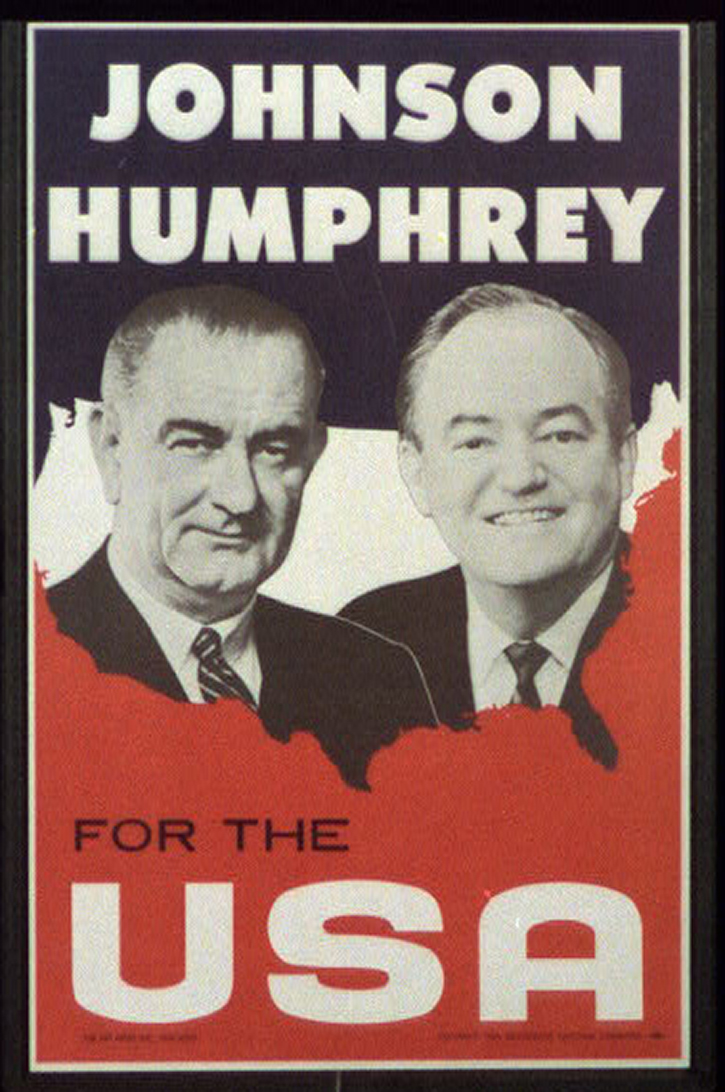 Johnson And Humphrey For The USA Poster 1964 Prints Photographs Division Library Of Congress 1970000