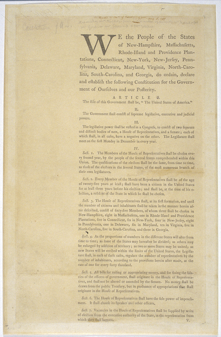 convention and ratification creating the united states printed document annotations by james madison james madison papers manuscript division library of congress 61 02 00 digital id us0061 02