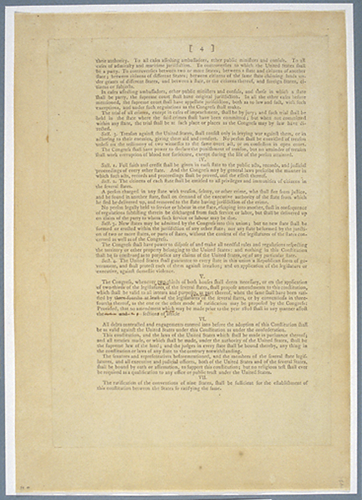 Convention And Ratification Creating The United States