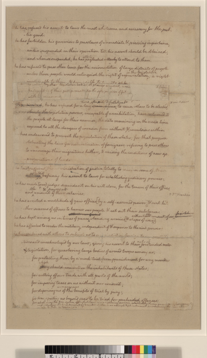 declaration of independence rough draft summary