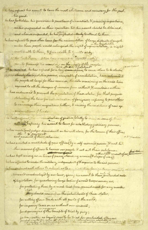 Exhibition  Declaring Independence Drafting The Documents  Page  Page