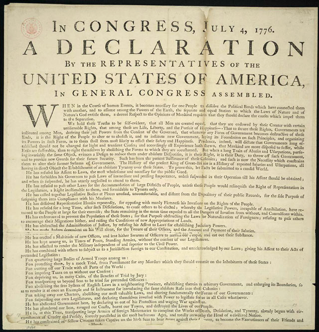 personal declaration of independence Just a few important words about the declaration of independence : the two-way along with the words and phrases that still ring out 239 years later are less noticed turns of phrase they say a lot.