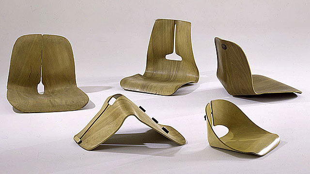 Chair Shell Experiments, Designed 1941 45, Molded Plywood, Metal, And  Rubber. Courtesy Of Vitra Design Museum (F 8 A E)