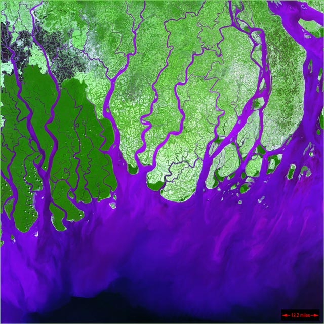 ganges delta from space