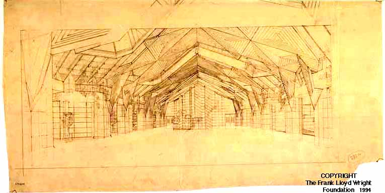 San Marcos in the Desert (Dining Pavilion inside perspective drawing)