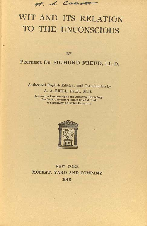 freud essay jokes Three essays on the theory of sexuality, 1905  jokes and their relation to the unconscious by sigmund freud - free pdf ebook \.