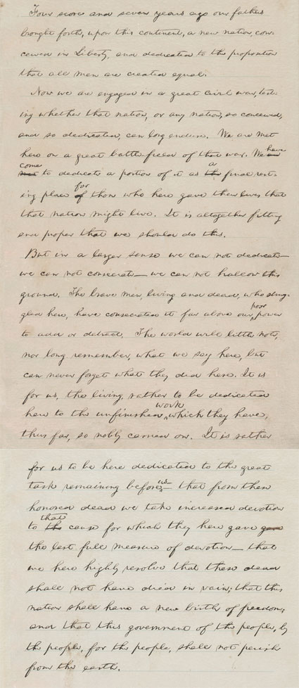 picture regarding Gettysburg Address Printable known as Gettysburg Protect Exhibitions - Library of Congress