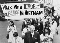 Vietnam War protest march