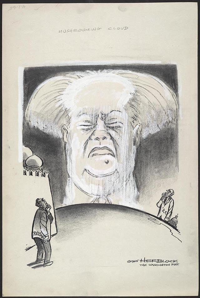 Truman Political Cartoon Atomic Bomb