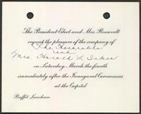 Exhibition i do solemnly swear inaugural materials from the invitation to white house luncheon buffet march 4 1933 printed invitation manuscript stopboris Gallery