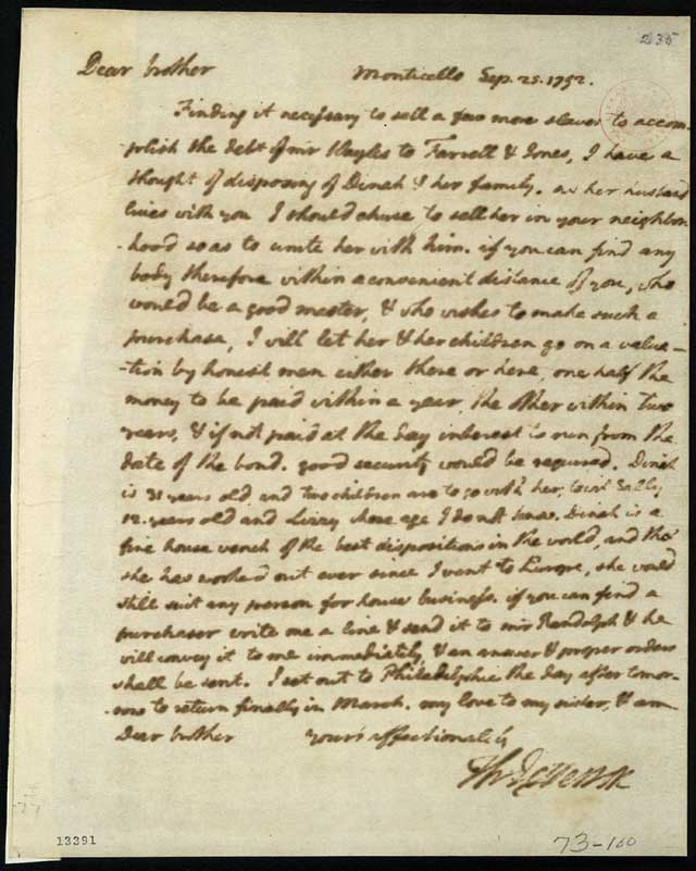 Thomas Jefferson letters
