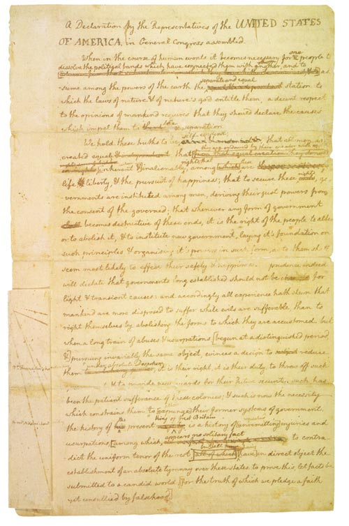 an analysis of declaration of independence by thomas jefferson 23052008  a summary of the declaration of independence will always take something away from the true words written by thomas jefferson,.