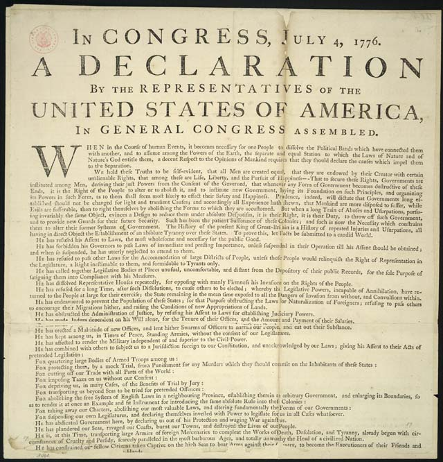 Declaration Of Independence Right To Institute New Government