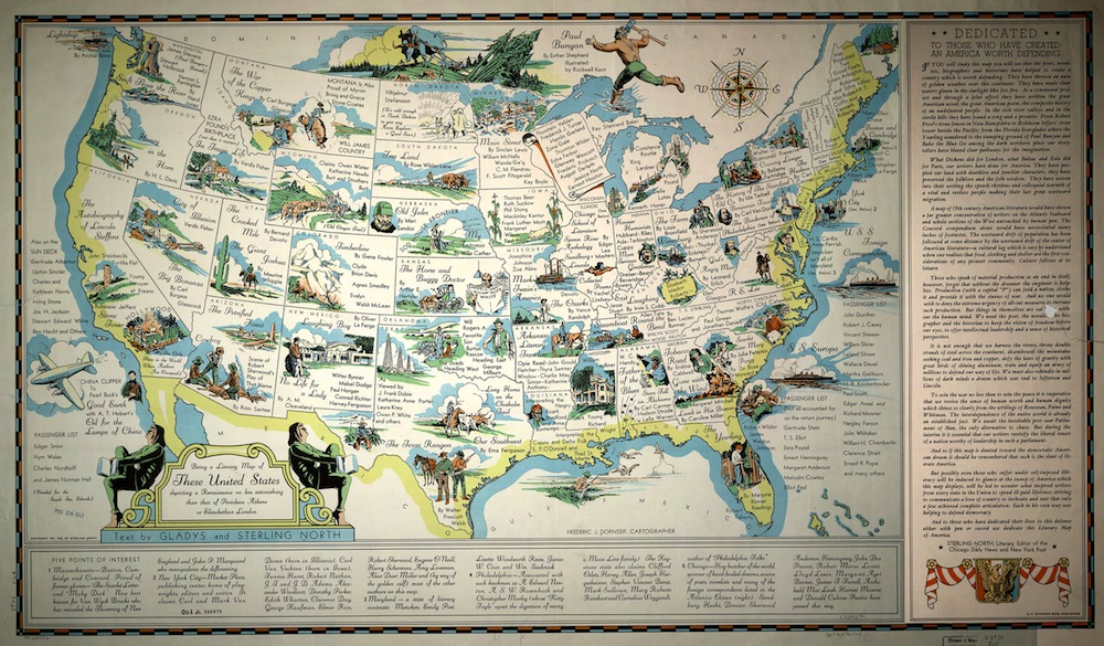 Introduction Language Of The Land Exhibitions Library Of - Us map with points of interest
