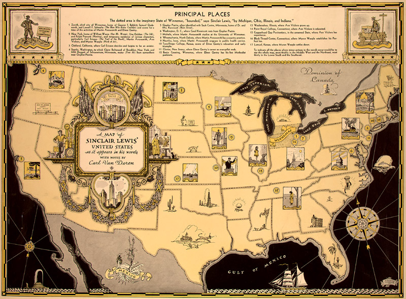 The Midwest Language of the Land Journeys Into Literary America – Travels With Charley Map