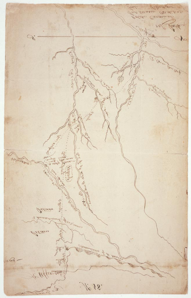 "Zebulon Pike [Map of the ""Santa Fe Trail""], St. Louis: ca. 1806"