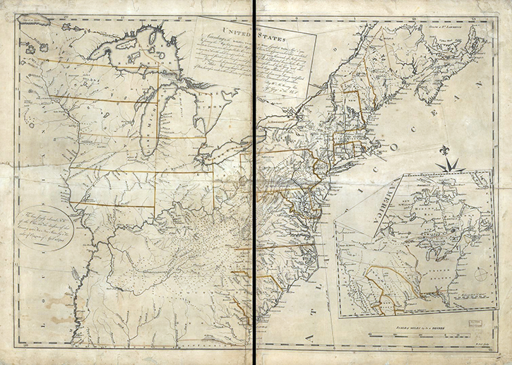 Online Exhibition Mapping A New Nation Abel Buells Map Of The - Map of us in 1783