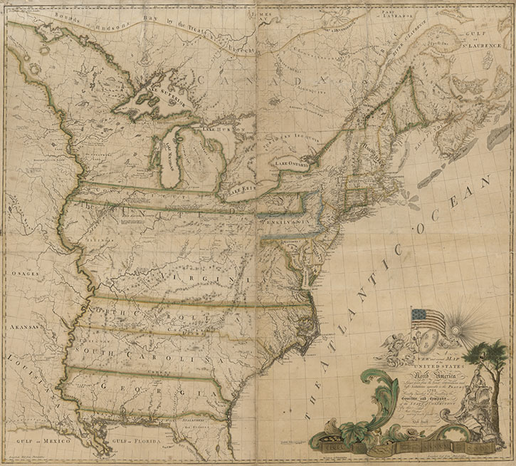 Map Of Tge Us Online Exhibition   Mapping a New Nation: Abel Buell's Map of the  Map Of Tge Us