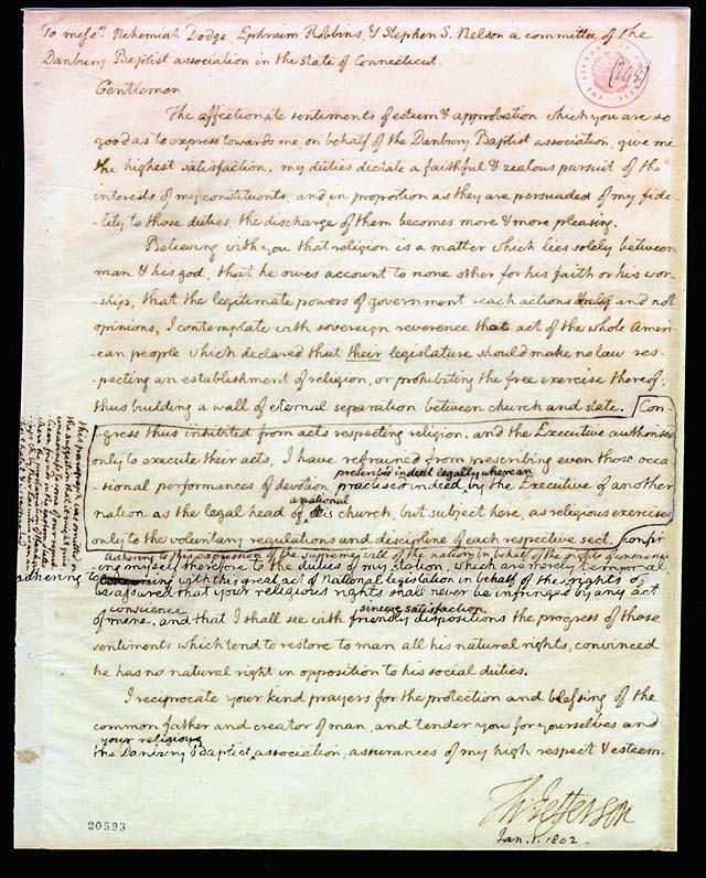 to thomas jefferson papers digital  letter digitally revised to expose obliterated sections thomas jefferson