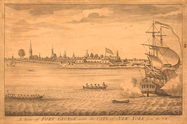 A View Of Fort George With The City Of New York Engraving By I Carwithan C 1730 Geography Map Division Library Of Congress 48