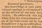 Congressional resolution, September 12, 1782, endorsing Robert Aitken's Bible...page 468