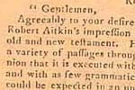 Congressional resolution, September 12, 1782, endorsing Robert Aitken's Bible...page 469