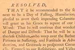 Congressional Fast Day Proclamation, March 20, 1779
