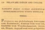 Delaware Indian and English Spelling Book... left page