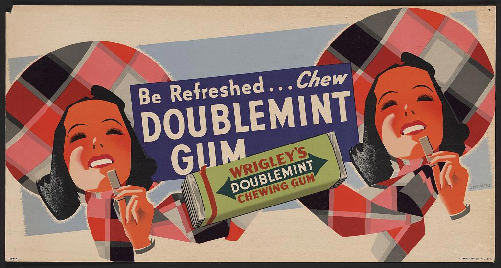 Wrigley and Henry Fleer added mint and fruit extracts to a chewing gum