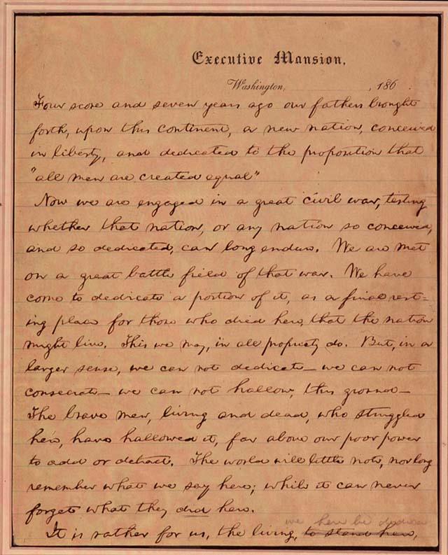 abraham lincoln gettysburg address american rhetoric
