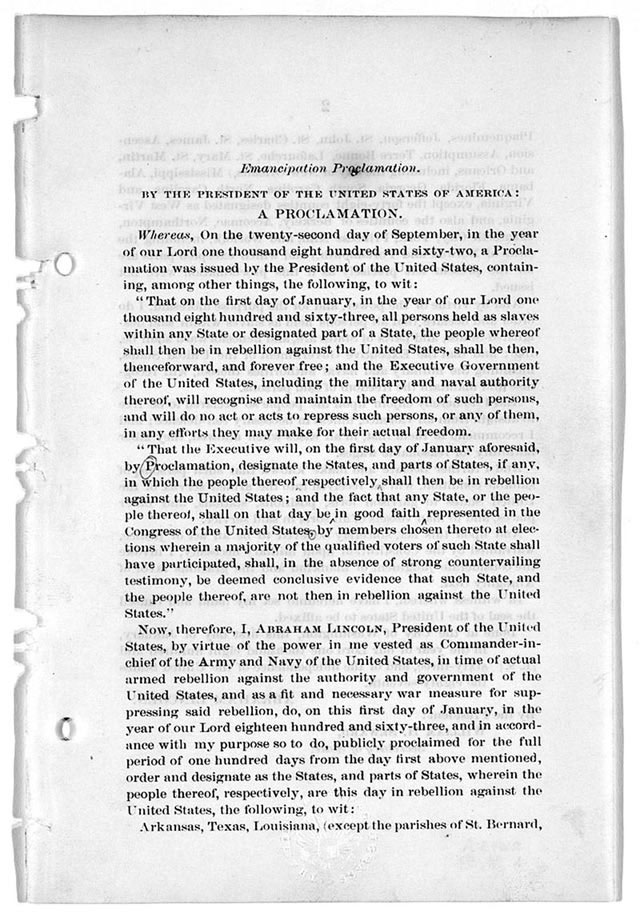 black confederates org  the emancipation proclamation