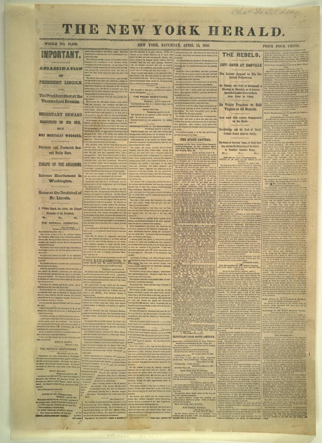 Account of Lincoln's Assassination