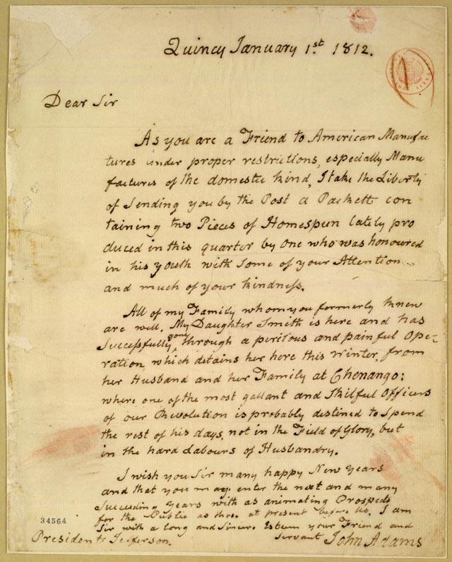 Thomas Jefferson john adams letters